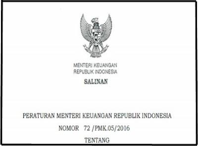 Download Surat Dari Permenkeu Nomor 72 /PMK.05/2016 Mengenai Uang Makan Guru