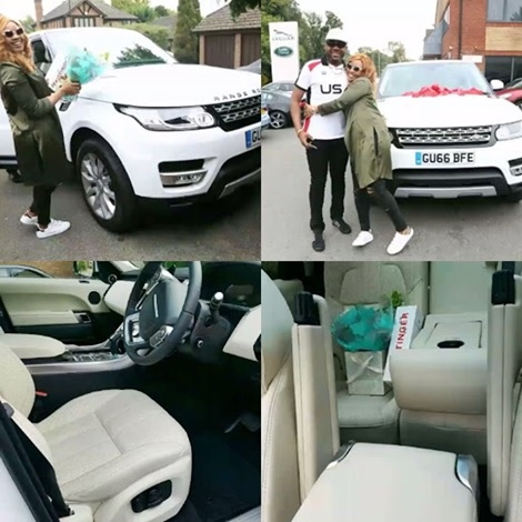 Billionaire Mogul, E-Money Gifts Wife Customized New 2016 Range Rover SUV (Photos)