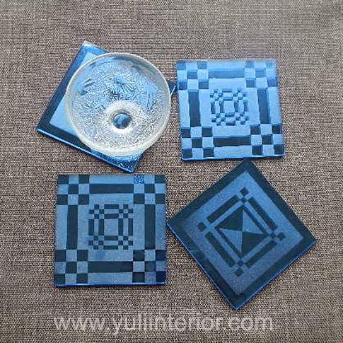 Yuli Interior Glass Coasters, Set of Four in Port Harcourt, Nigeria