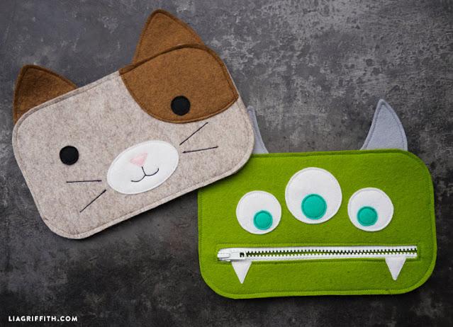 animal zipper bag