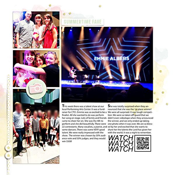 Week 30 {right} Digital Scrapbook Page