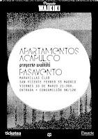 Concierto de Pasavento y Apartamentos Acapulco en Maravillas Club