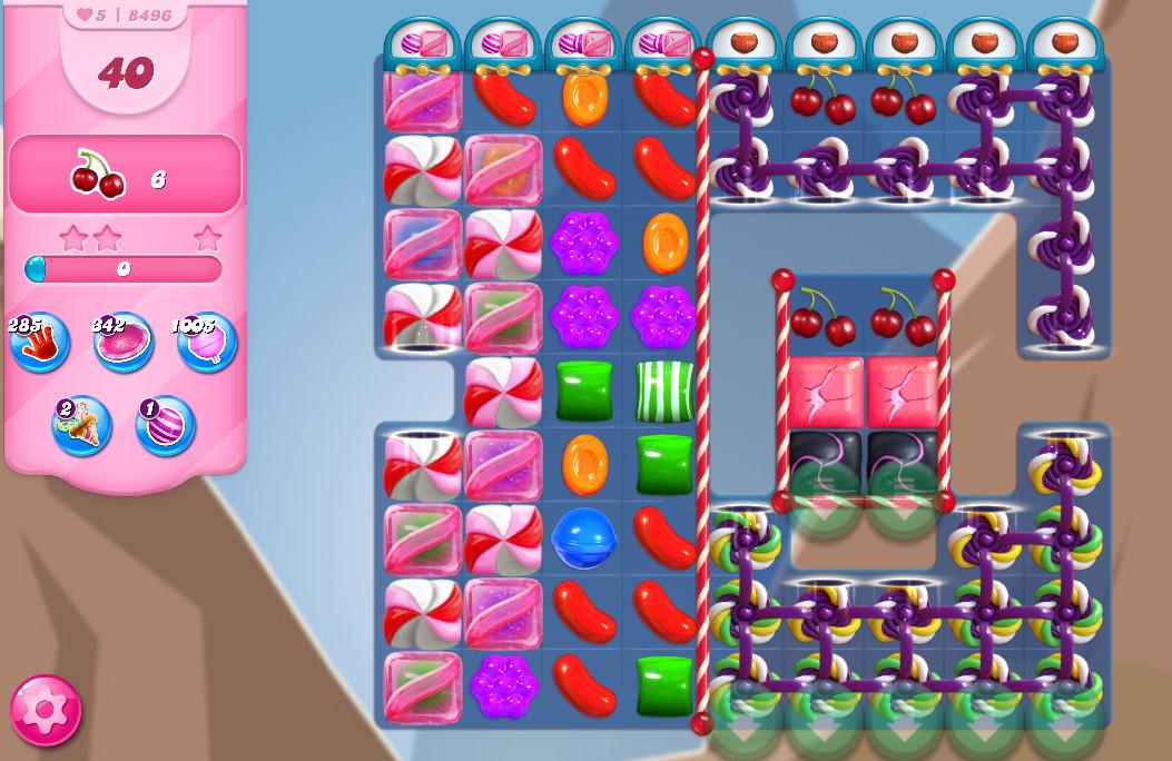 Candy Crush Saga level 8496