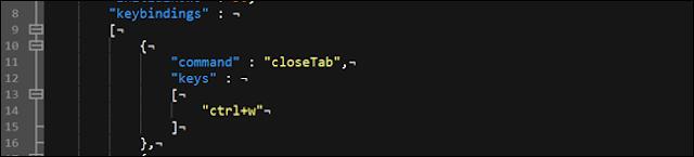 خيارات ربط مفتاح محطة Windows.