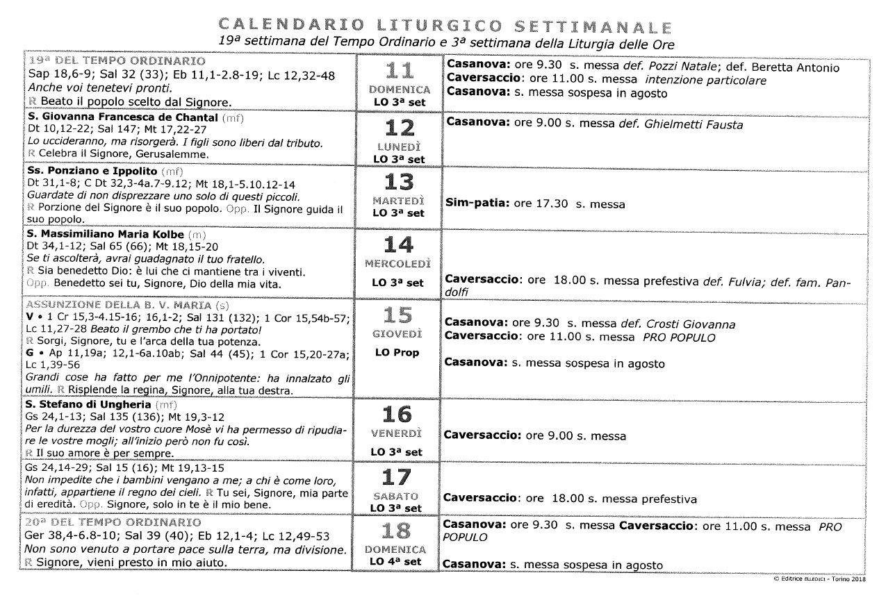 c calendario liturgico