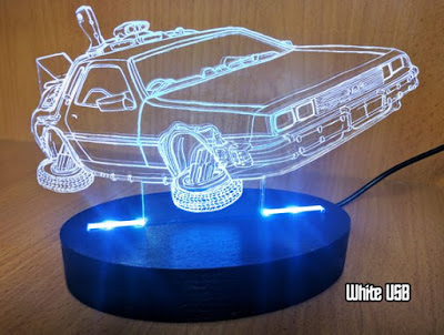 Back to the Future Time Machine Desk Lamp