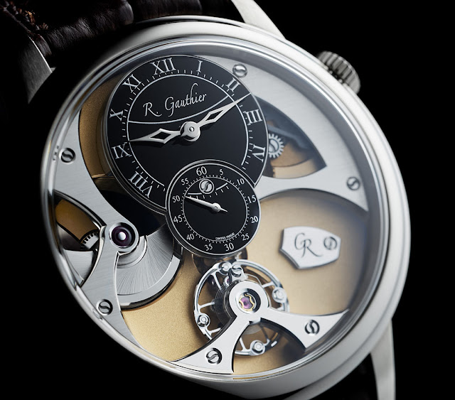 Romain Gauthier Insight Micro-Rotor White Gold Black Dial