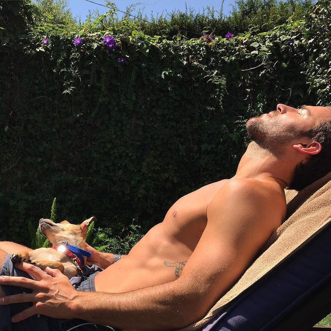sexy-shirtless-dude-sun-tanning-outdoors