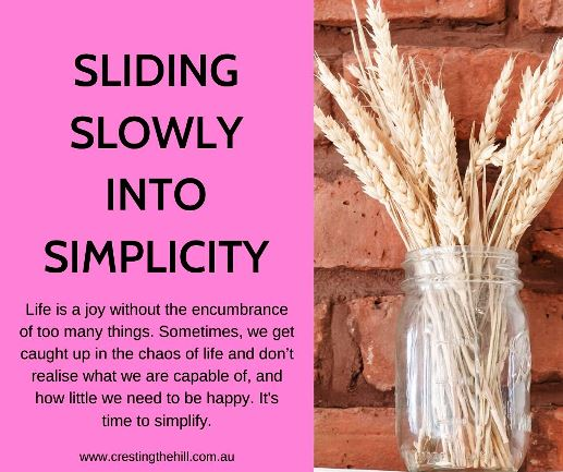 Life is a joy without the encumbrance of too many things. Sometimes, we get caught up in the chaos of life and don't realise what we are capable of, and how little we need to be happy. It's time to simplify. #simpleliving