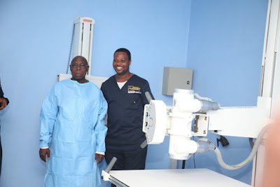 Photos Of Former President Obasanjo's Medical Check-Up At The World Class Diagnostic Centre, Yenagoa