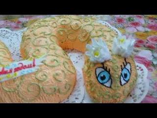 Торт Клубничная Змейка