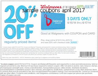 Walgreens coupons april