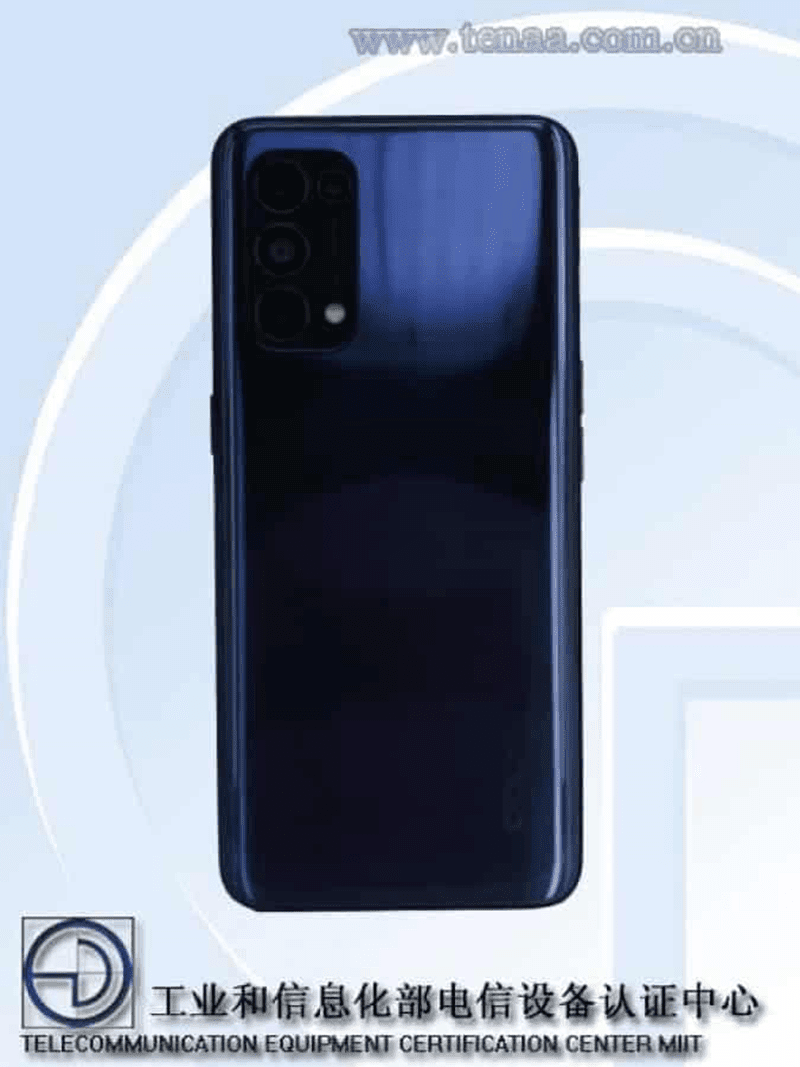 OPPO Reno 5G  image from TENAA listing