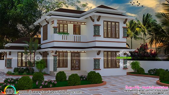 1895 square feet modern 4 bedroom house design