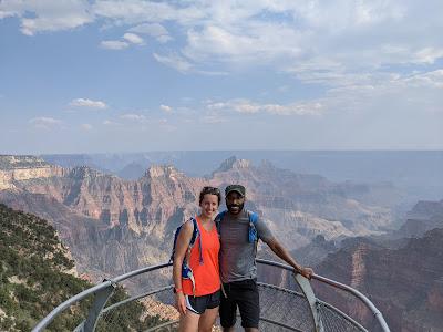 Fran and me at the Grand Canyon