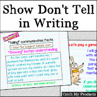 Show don't tell writing practice for $1