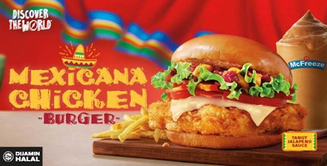 McDonald's Malaysia perkenal Burger Ayam Mexicana sebagai menu kedua untuk Kempen Discover the World