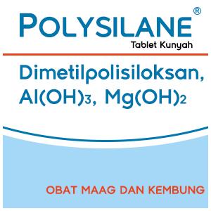 Polysilane Tablet Kunyah, Obat Maag dan Kembung
