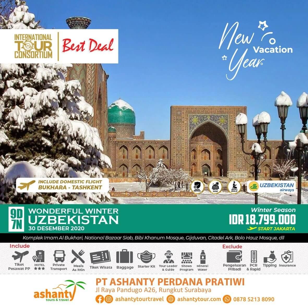 paket tour uzbekistan 2020 dari surabaya
