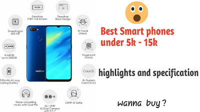 Best Smartphones under 5k - 15k in amzon and flipkart | budget mobile phone