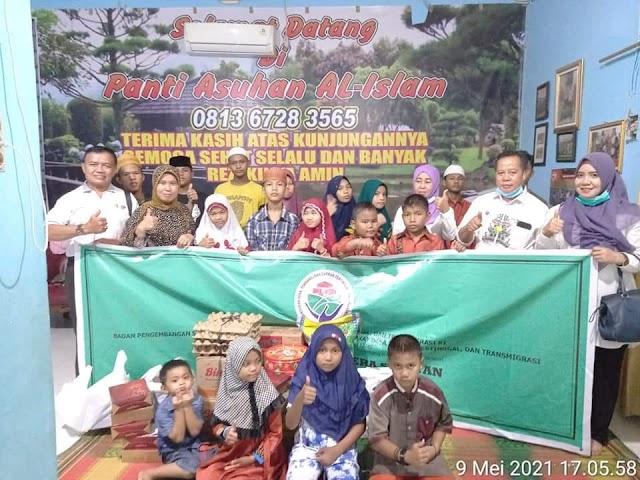 TPP Sumsel Berbagi 1.000 Sembako, Munajatkan Doa Bersama Anak Panti Sumsel Bebas COVID-19