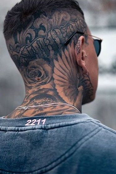 Covered Neck + Head Tattoo