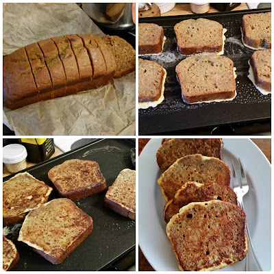 Whole grain and honey sweetened Pumpkin Bread makes great french toast.