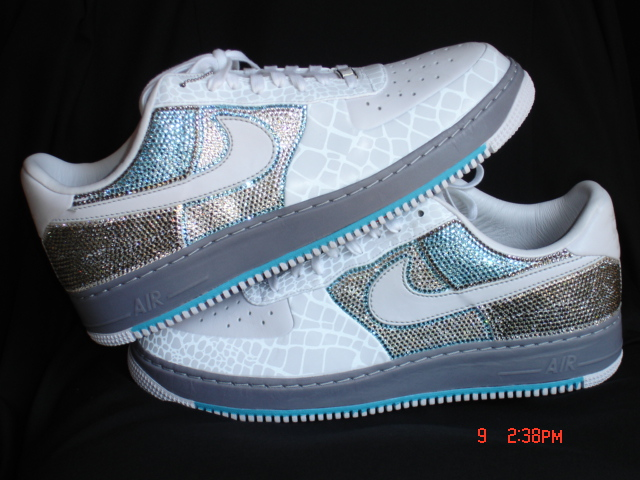 OFFICIAL BLING KING  Swarovski Nike Air Force Ones by.Milo ligons 76a1fabd2