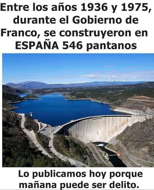 1936, 1975, Franco, pantanos