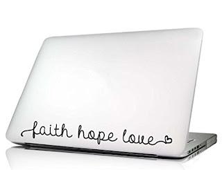 Faith hope love heart Laptop Decal Vinyl macbook skin sticker