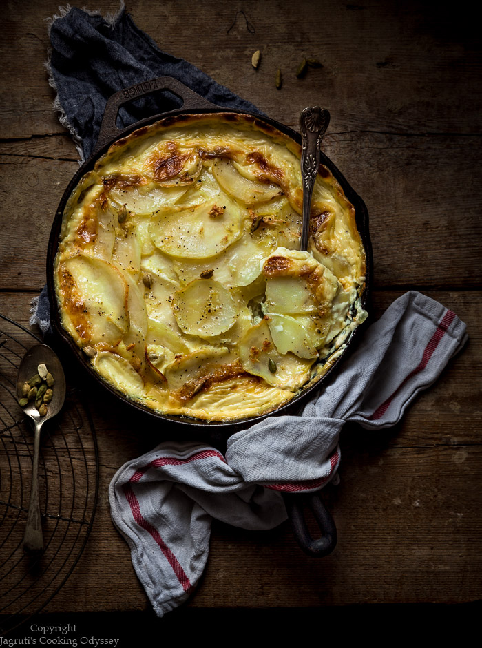 French potato dauphinoise cooked with a twist