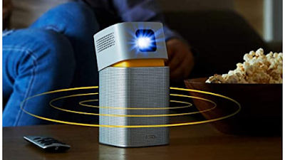 """BenQ GV1 Smart, Stylish, Portable LED Projector With in-Build Battery, 100"""" Projection Image & Wireless Connectivity"""