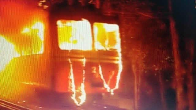 Rio:Trem do Corcovado pega fogo