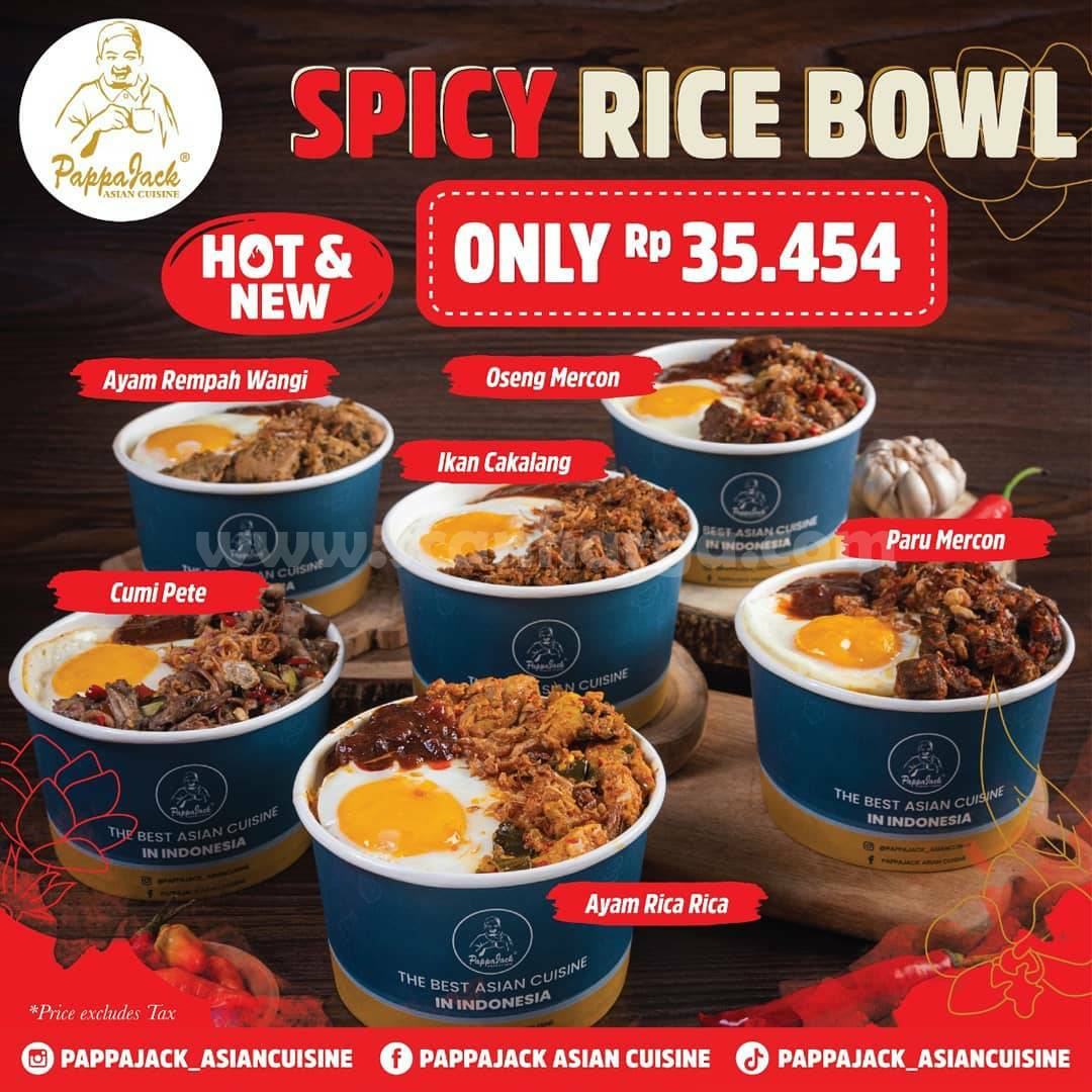PappaJack Promo Spicy Rice Bowl hanya Rp 35.454,-