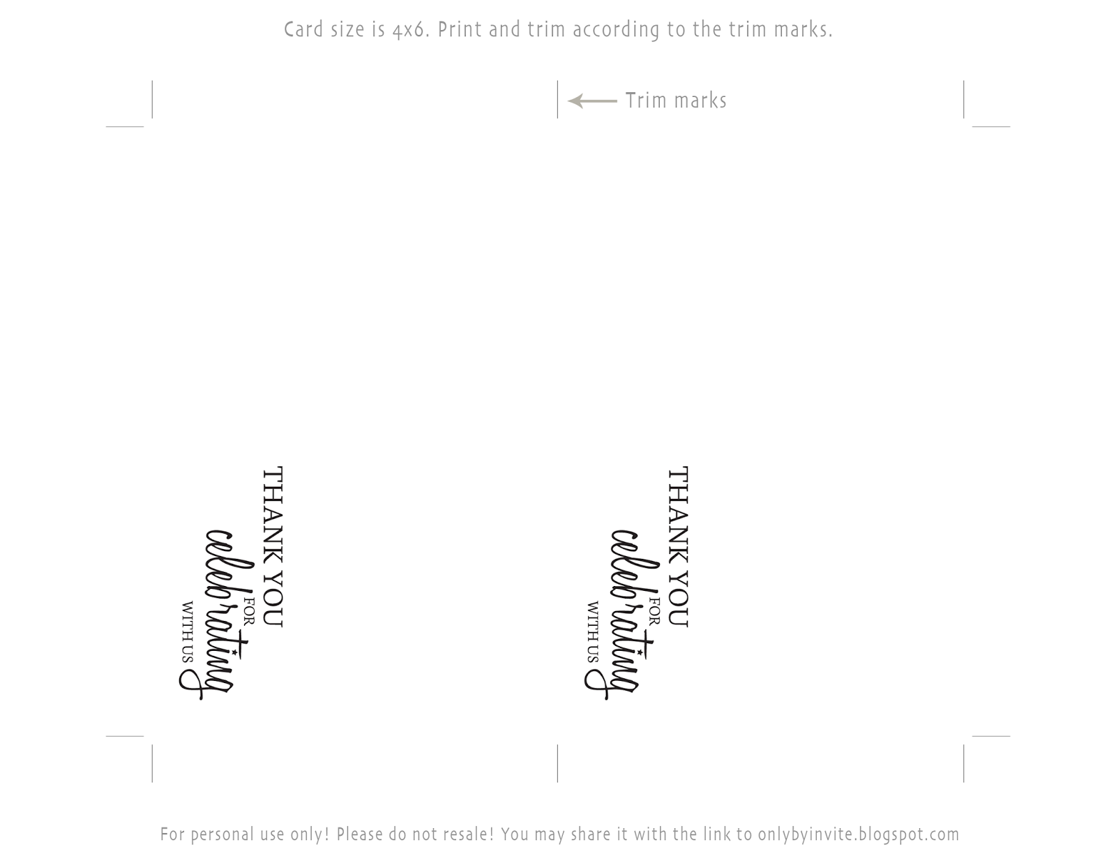 Free Printable Postcard Templates triptych cards for happy – Thank You Template Free