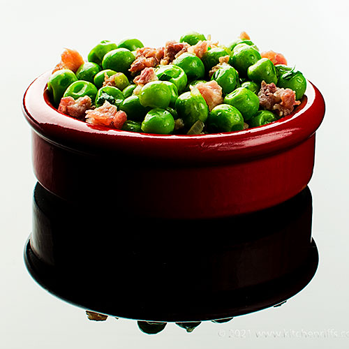 Sautéed Peas with Prosciutto (or Pancetta)