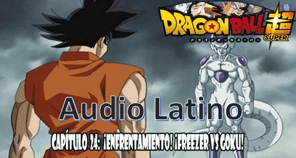Ver capitulo 24 en audio latino online, Goku y el emperador Freezer comienzan a pelear.