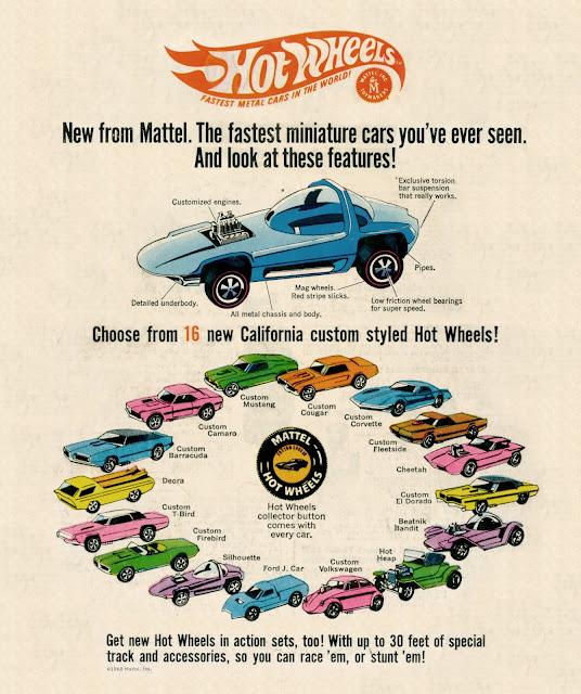 Vintage Hot Wheels advertisement sweet sixteen