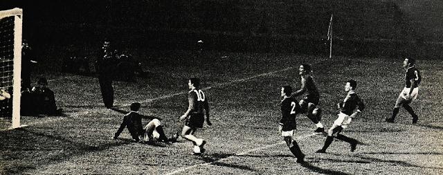 Chile y México en partido amistoso, 23 de octubre de 1968