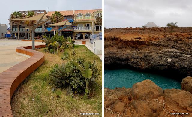 A cidade de Santa Maria e a paisagem vulcânica da Ilha do Sal
