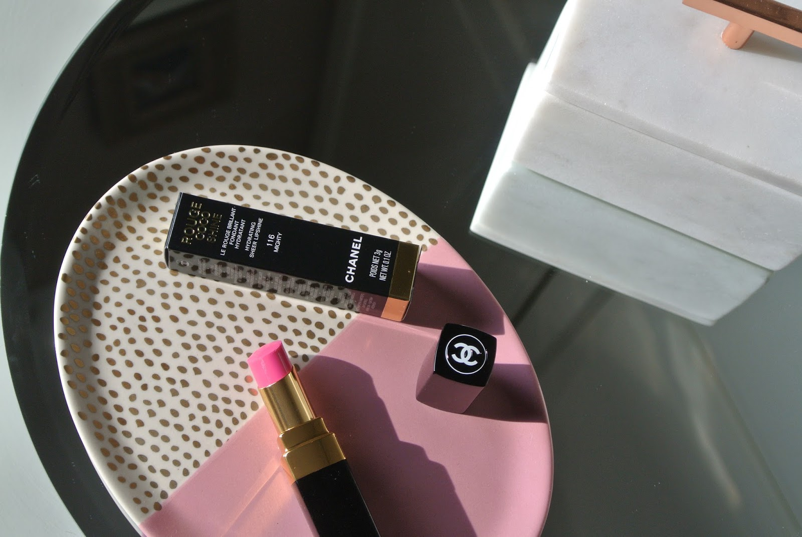 Chanel LIMITED EDITION Rouge Coco Shine Lipstick in 116 Mighty