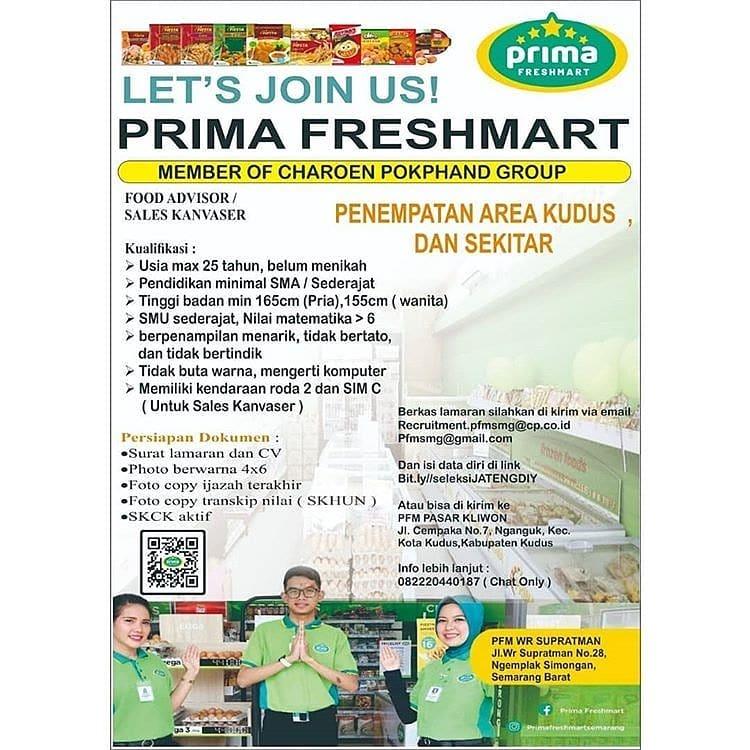 Lowongan Kerja Pt Primafood International Prima Freshmart Kudus Loker Swasta