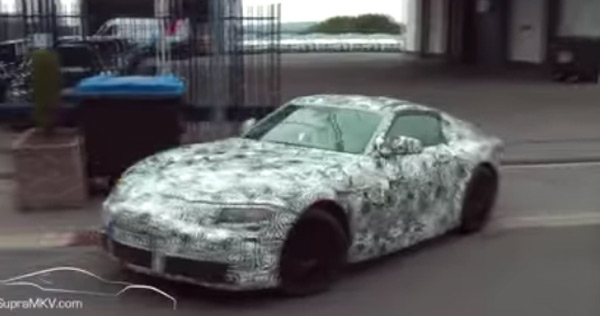 2018 or 2019 Supra Sport Car Toyota Prototype Testing in Germany