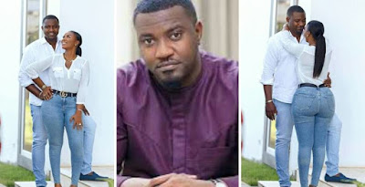 See Cute Pictures Of Ghanaian Actor, John Dumelo And His Wife As He Celebrates 37th Birthday