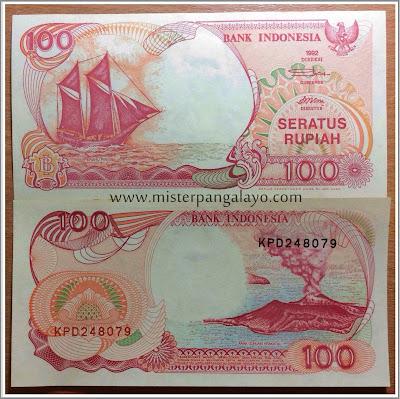 Uang kertas pecahan 100 IDR, tahun 1992