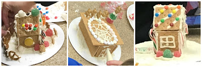 Gingerbread STEAM program, mini gingerbread house program, graham cracker houses for kids