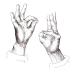 2 Hand Mudras | Mudra Sun & Mudra Moon