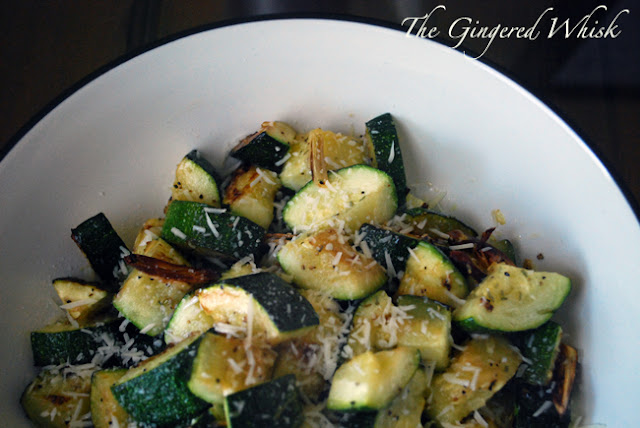 Garlic Roasted Zucchini (The Gingered Whisk)
