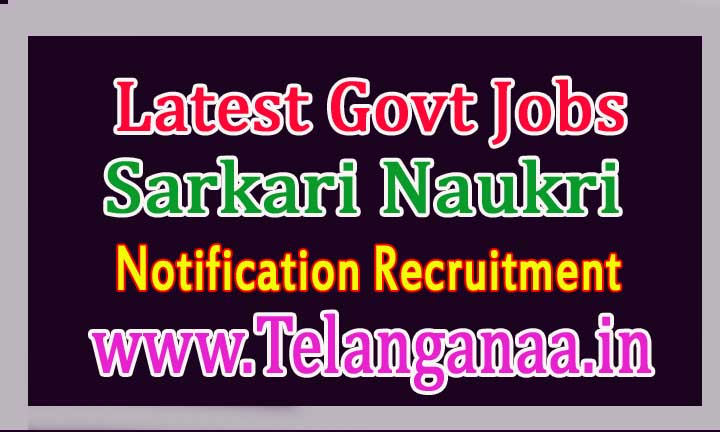 Latest Govt Jobs Notification Recruitment Online Apply