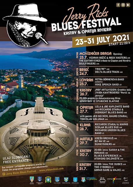 Jerry Ricks Blues Festival Kastav i Opatijska Rivijera 23-31.07.2021